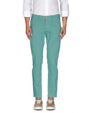 Повседневные брюки 0/ZERO CONSTRUCTION. Цвет: светло-зеленый