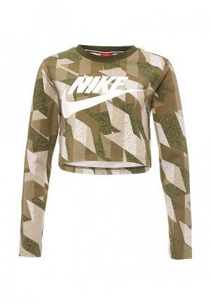 Лонгслив Nike. Цвет: хаки