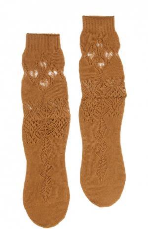 Носки Antipast. Цвет: коричневый