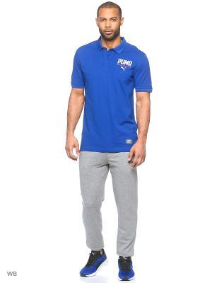 Футболка-поло STYLE Tec Polo Puma. Цвет: синий
