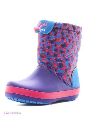 Сапоги CROCS. Цвет: голубой, малиновый, фиолетовый