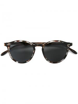 Солнцезащитные очки в черепаховой оправе Pantos Paris. Цвет: чёрный