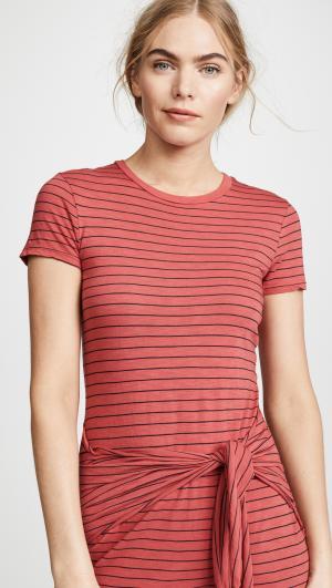 Big Sur Stripe Tie Front Dress Three Dots