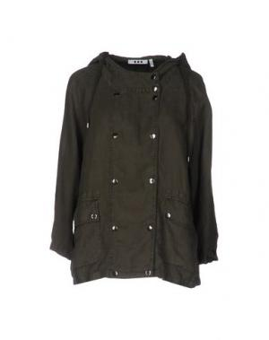 Куртка THREE DOTS. Цвет: зеленый-милитари