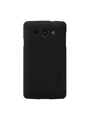 Накладка для LG L60 (X145) Super Frosted Shield Nillkin. Цвет: черный