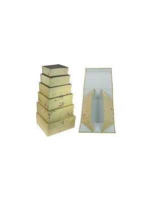 Комплект коробок из 6шт. (тафта с вышивкой) Русские подарки. Цвет: бежевый