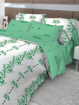 Комплект постельного белья Волшебная ночь. Цвет: зеленый