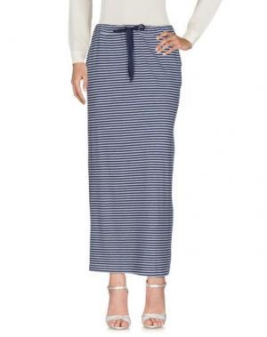 Длинная юбка ZHELDA. Цвет: синий