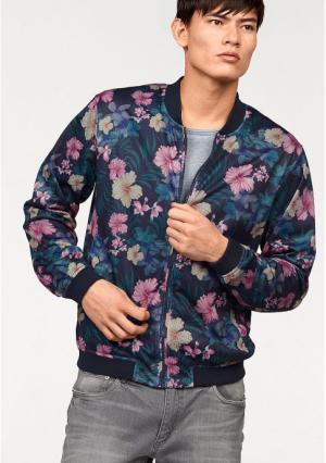 Куртка-блузон JOHN DEVIN. Цвет: темно-синий с рисунком