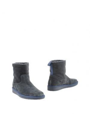 Полусапоги и высокие ботинки PÀNCHIC. Цвет: грифельно-синий