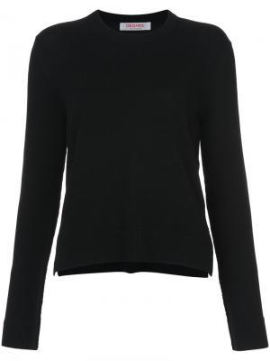 Укороченным свитер с круглым вырезом Organic By John Patrick. Цвет: чёрный