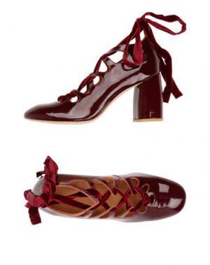 Туфли MIISTA. Цвет: красно-коричневый