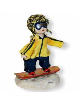 Статуэтка Сноубордист Zampiva. Цвет: желтый, красный, синий