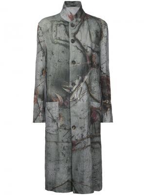 Двустороннее пальто с принтом  Forme Dexpression D'expression. Цвет: серый