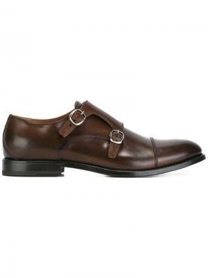 Туфли монки W.Gibbs. Цвет: коричневый