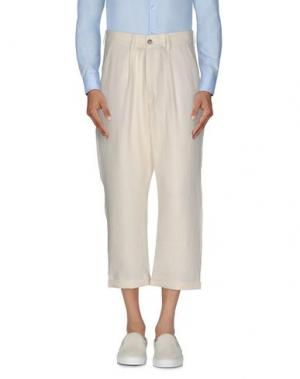 Повседневные брюки 26.7 TWENTYSIXSEVEN. Цвет: слоновая кость