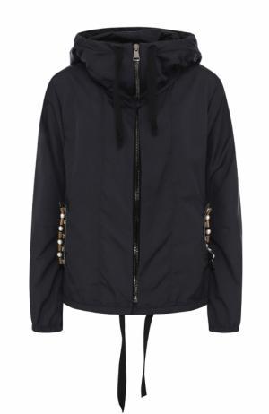 Куртка на молнии с декоративной отделкой Dorothee Schumacher. Цвет: темно-синий