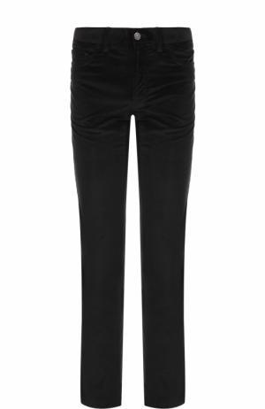 Хлопковые брюки прямого кроя Brioni. Цвет: черный