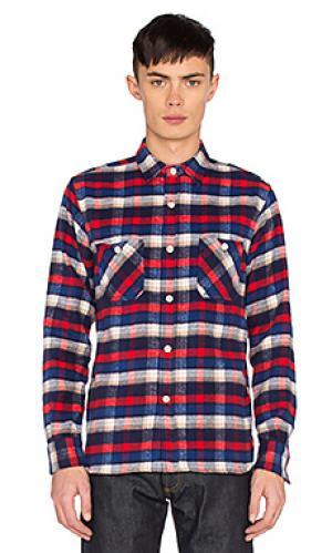 Рабочая рубашка shaggy 3sixteen. Цвет: красный