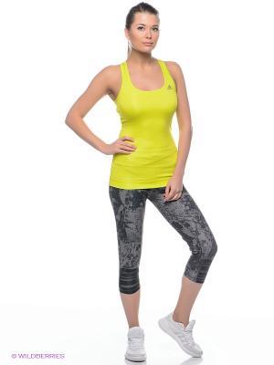 Бриджи SN 3/4 G TGT W Adidas. Цвет: темно-серый, серый