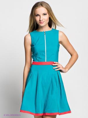 Платье Verezo. Цвет: бирюзовый, коралловый