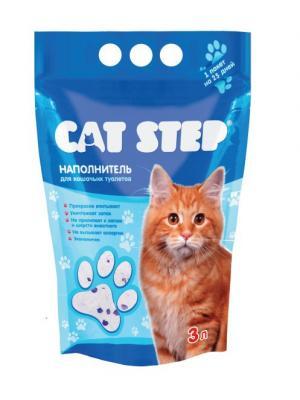 Наполнитель для кошачьих туалетов силикагелевый впитывающий 3л CAT STEP. Цвет: прозрачный