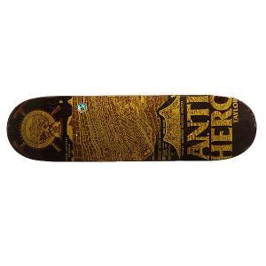 Дека для скейтборда  Taylor Gnarchaeology 32.56 x 8.38 (21.3 см) Antihero. Цвет: коричневый,желтый