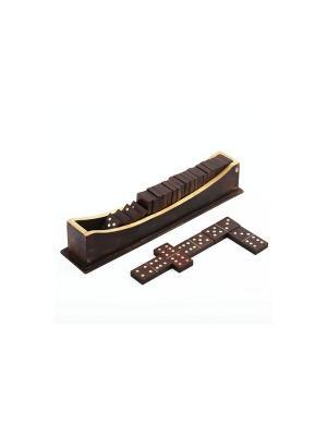 Игра Домино Доминосец на деревянной подставке IPG-04 Экспедиция. Цвет: бронзовый