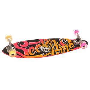 Скейт круизер  Swift Glo Wheel Black/Pink/Orange 8.6 x 34.5 (87.6 см) Sector 9. Цвет: черный,розовый,оранжевый