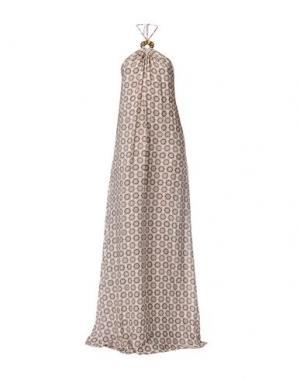 Длинное платье FISICO. Цвет: бежевый
