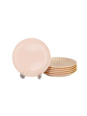 Набор дессертных тарелок 6 шт 19см, PATRICIA. Цвет: белый