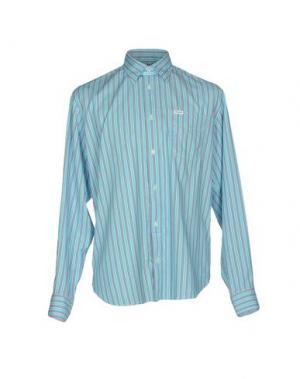 Pубашка FAÇONNABLE. Цвет: бирюзовый