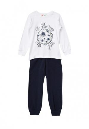 Пижама Button Blue. Цвет: черно-белый