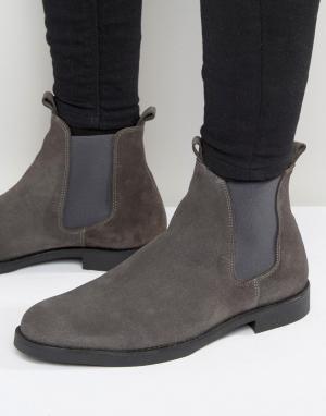 Zign Замшевые ботинки челси. Цвет: серый