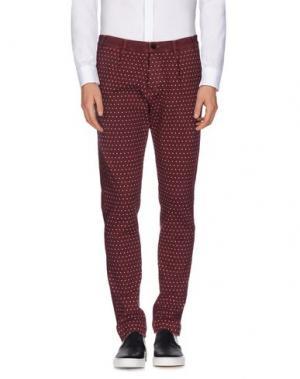 Повседневные брюки MAESNA. Цвет: красно-коричневый