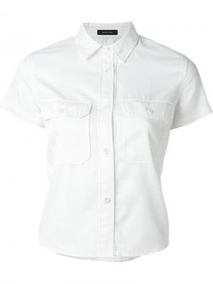 Рубашка с нагрудными карманами Nlst. Цвет: белый