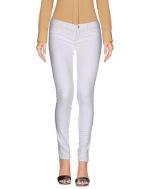 Повседневные брюки BELLE FEMME®. Цвет: белый