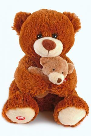 Мама и малыш Медведица Fluffy Family. Цвет: коричневый