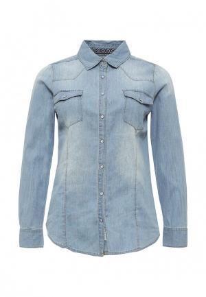 Рубашка джинсовая Alcott. Цвет: голубой