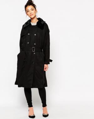 The WhitePepper Классическое легкое пальто. Цвет: черный