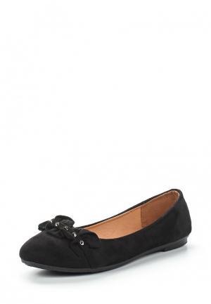 Балетки Exquily. Цвет: черный