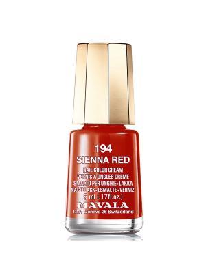 Лак для ногтей тон 194 Sienna red Mavala. Цвет: красный