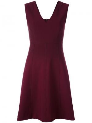 Расклешенное платье без рукавов Elizabeth And James. Цвет: красный