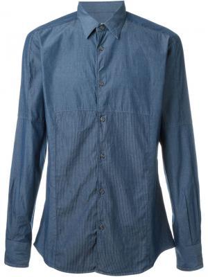 Классическая рубашка Al Duca D'Aosta 1902. Цвет: синий