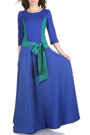 Платье Grey Cat. Цвет: сине-изумрудный