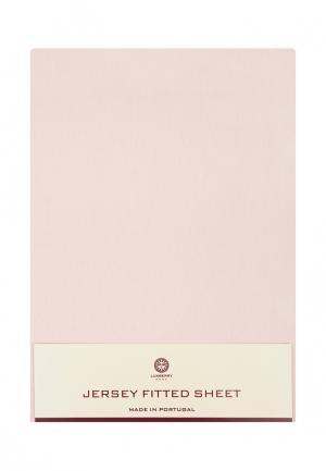 Простыня Luxberry. Цвет: розовый