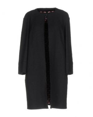 Легкое пальто GIO' GUERRERI. Цвет: темно-синий