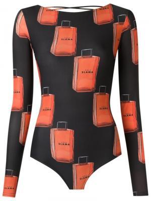 Printed swimsuit Amir Slama. Цвет: чёрный