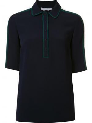 Рубашка с контрастной окантовкой Gabriela Hearst. Цвет: синий