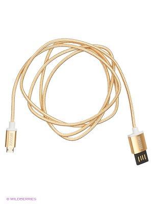 Кабель-переходник двухсторонний микро-USB золотой (CB900-UMU-10GD-ds) WIIIX 1м. Цвет: золотистый